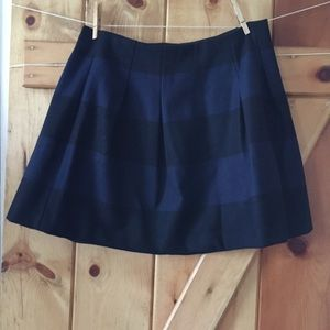 Madewell Size 8 Blue And Black Wool Blend Skirt.